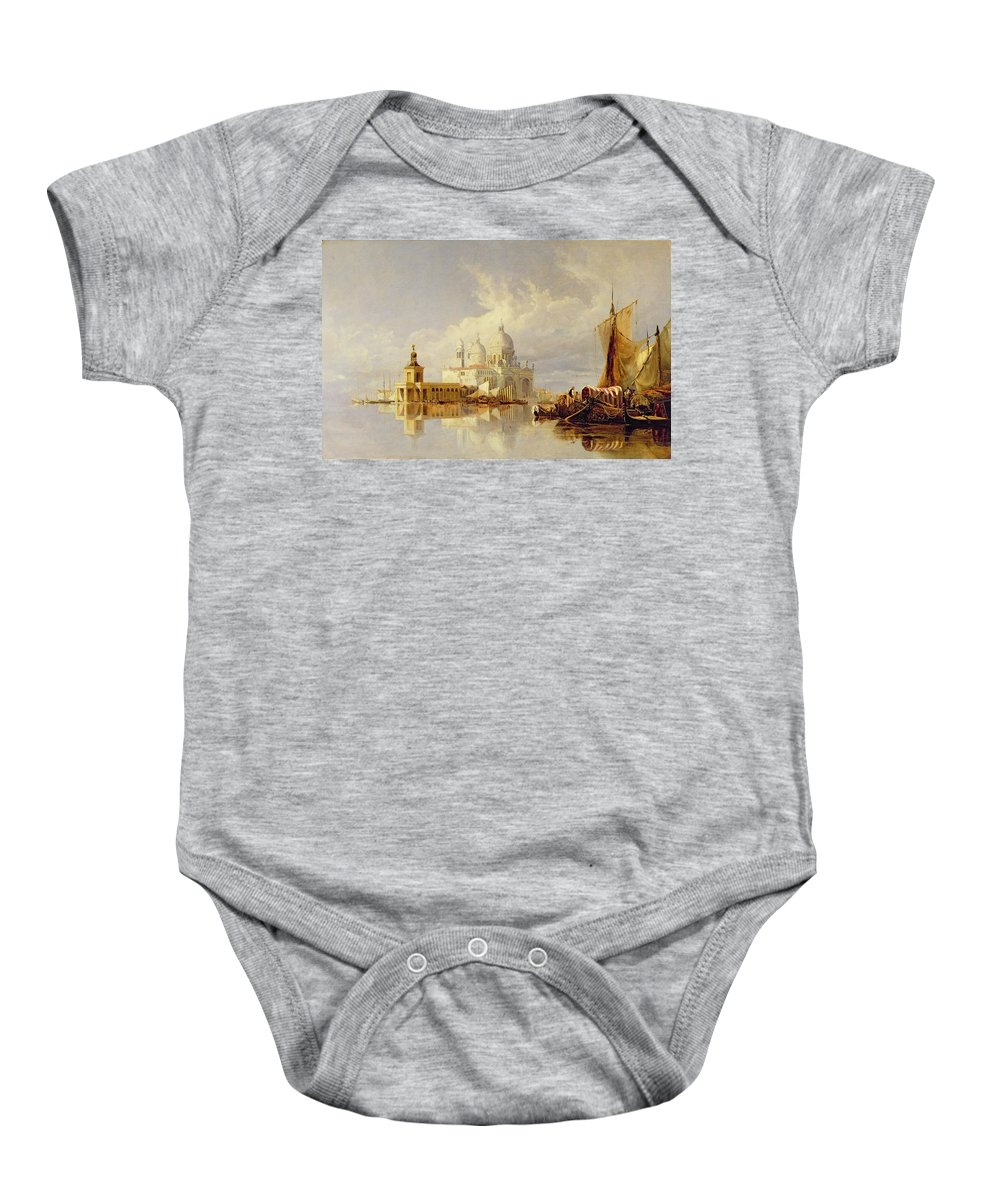 Santa Baby Onesie featuring the painting Santa Maria Della Salute by William James Muller