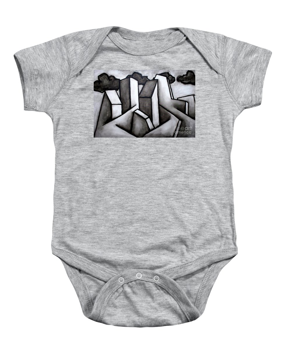Absract Baby Onesie featuring the painting Scape by Thomas Valentine