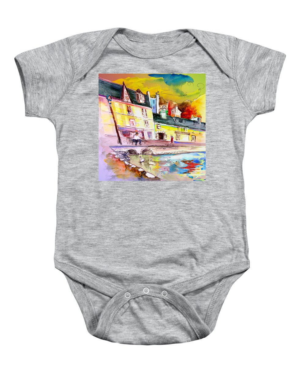 Scotland Paintings Baby Onesie featuring the painting Scotland 04 by Miki De Goodaboom