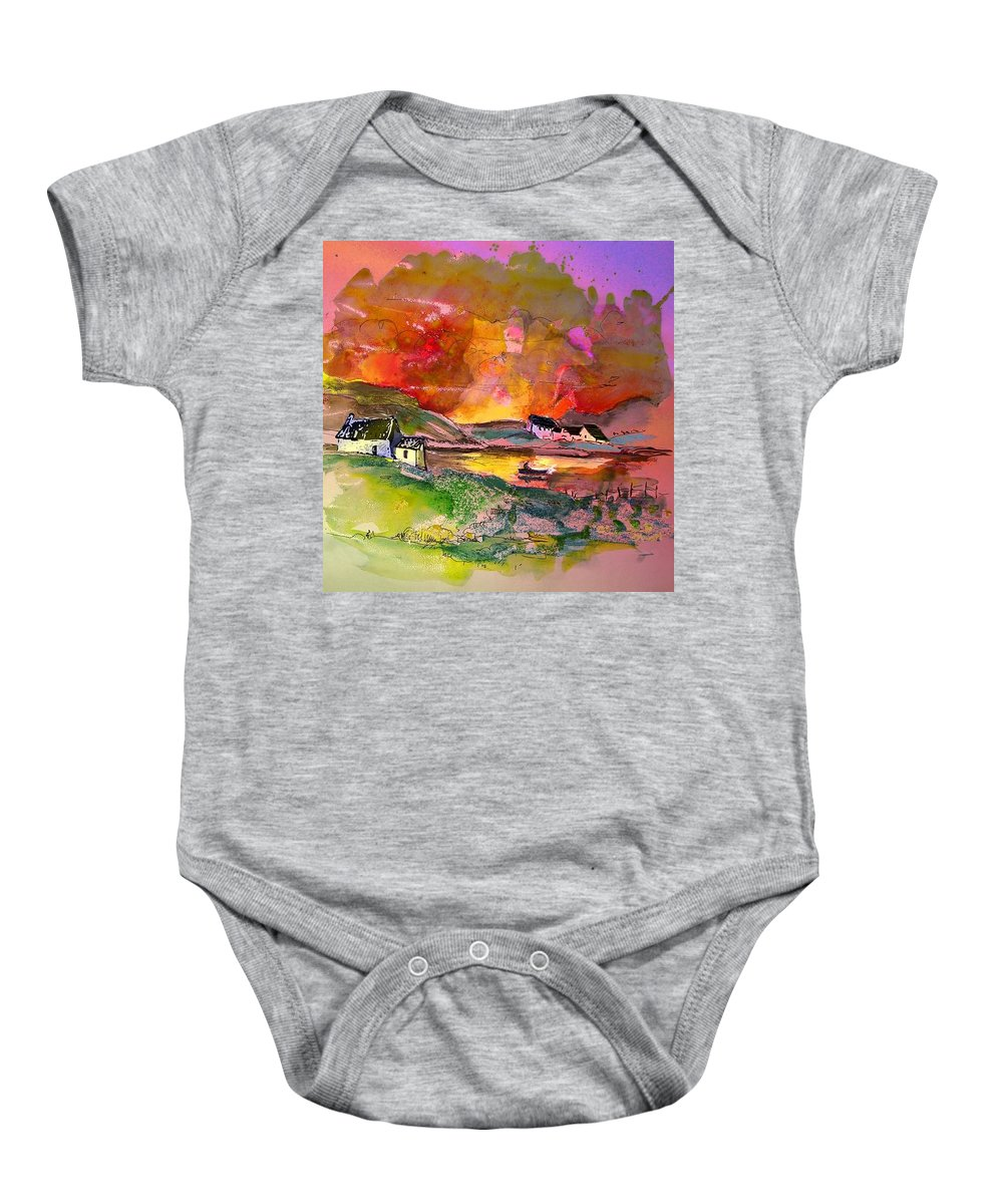 Scotland Paintings Baby Onesie featuring the painting Scotland 07 by Miki De Goodaboom