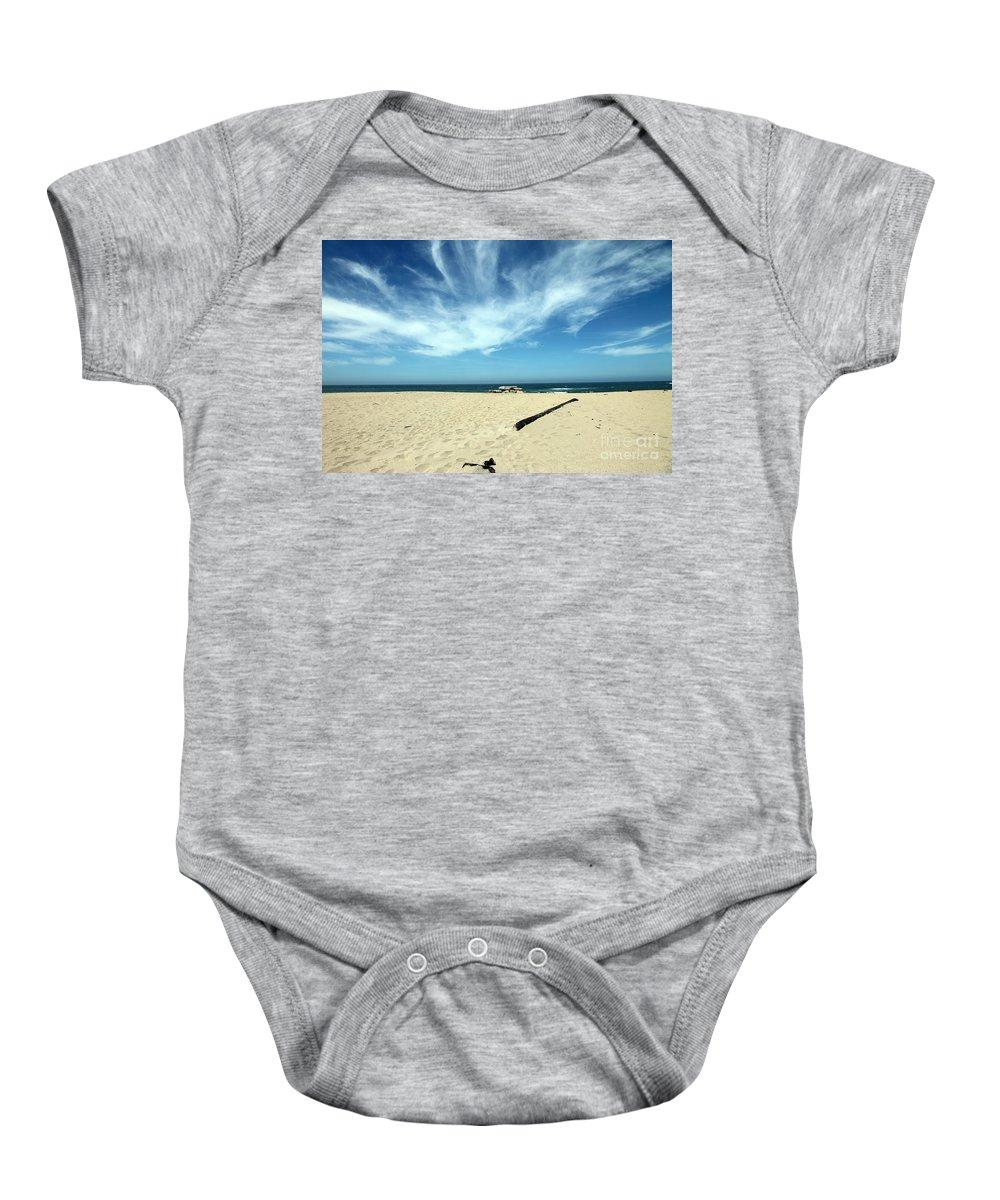 scott Creek Beach Baby Onesie featuring the photograph Scott Creek Beach California Usa by Amanda Barcon