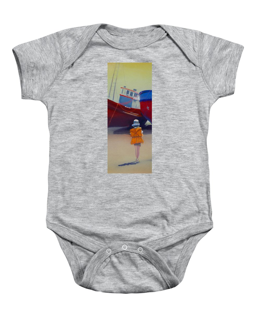 Dreamscape Baby Onesie featuring the painting Sea Dreamer by Charles Stuart