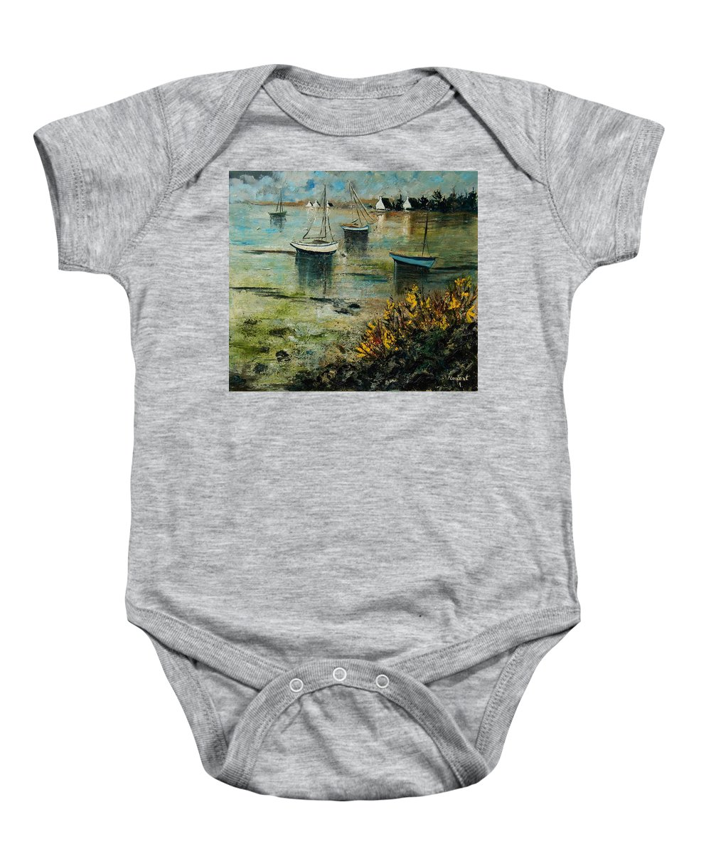 Seascape Baby Onesie featuring the print Seascape 78 by Pol Ledent