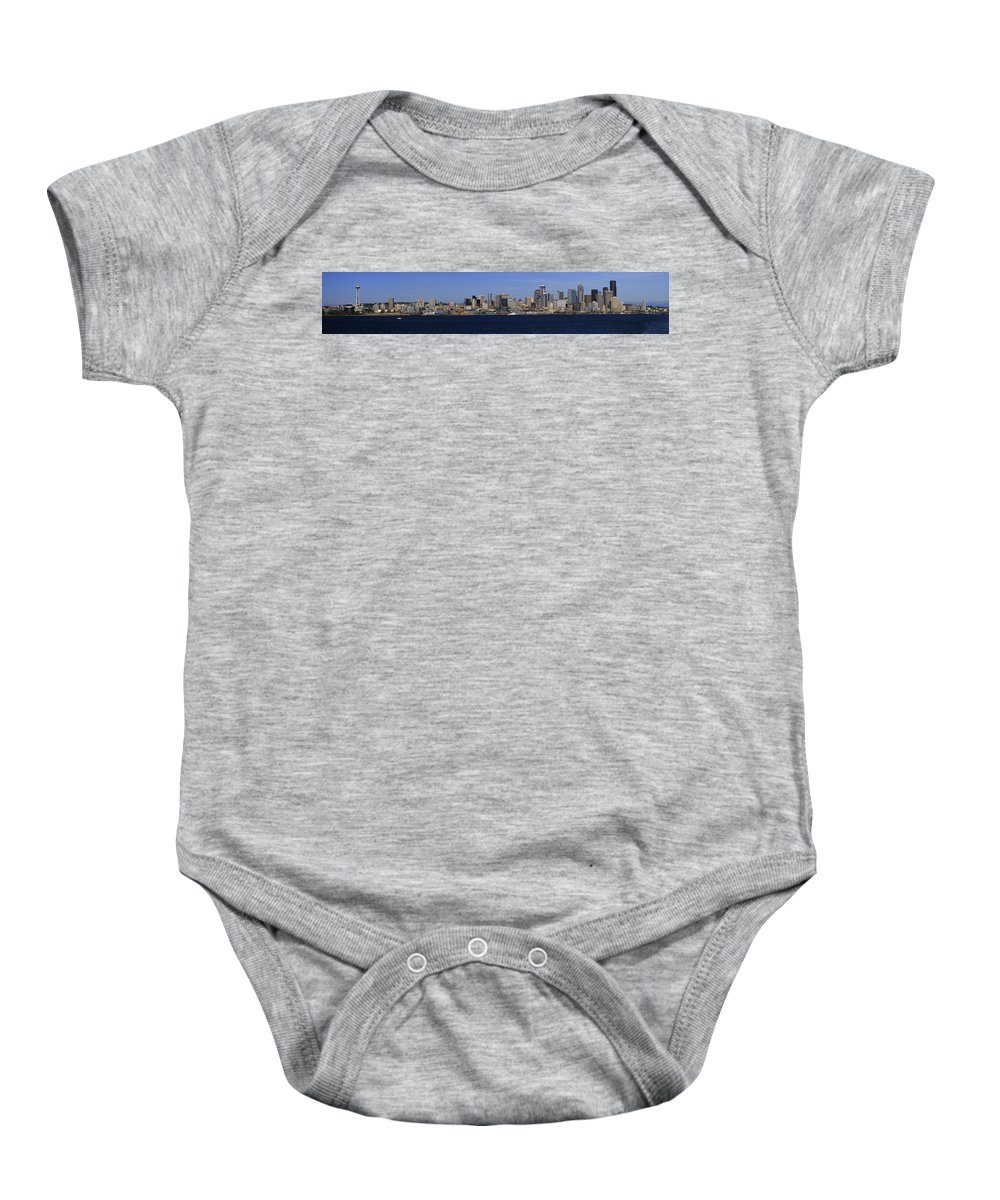 3scape Baby Onesie featuring the photograph Seattle Panoramic by Adam Romanowicz