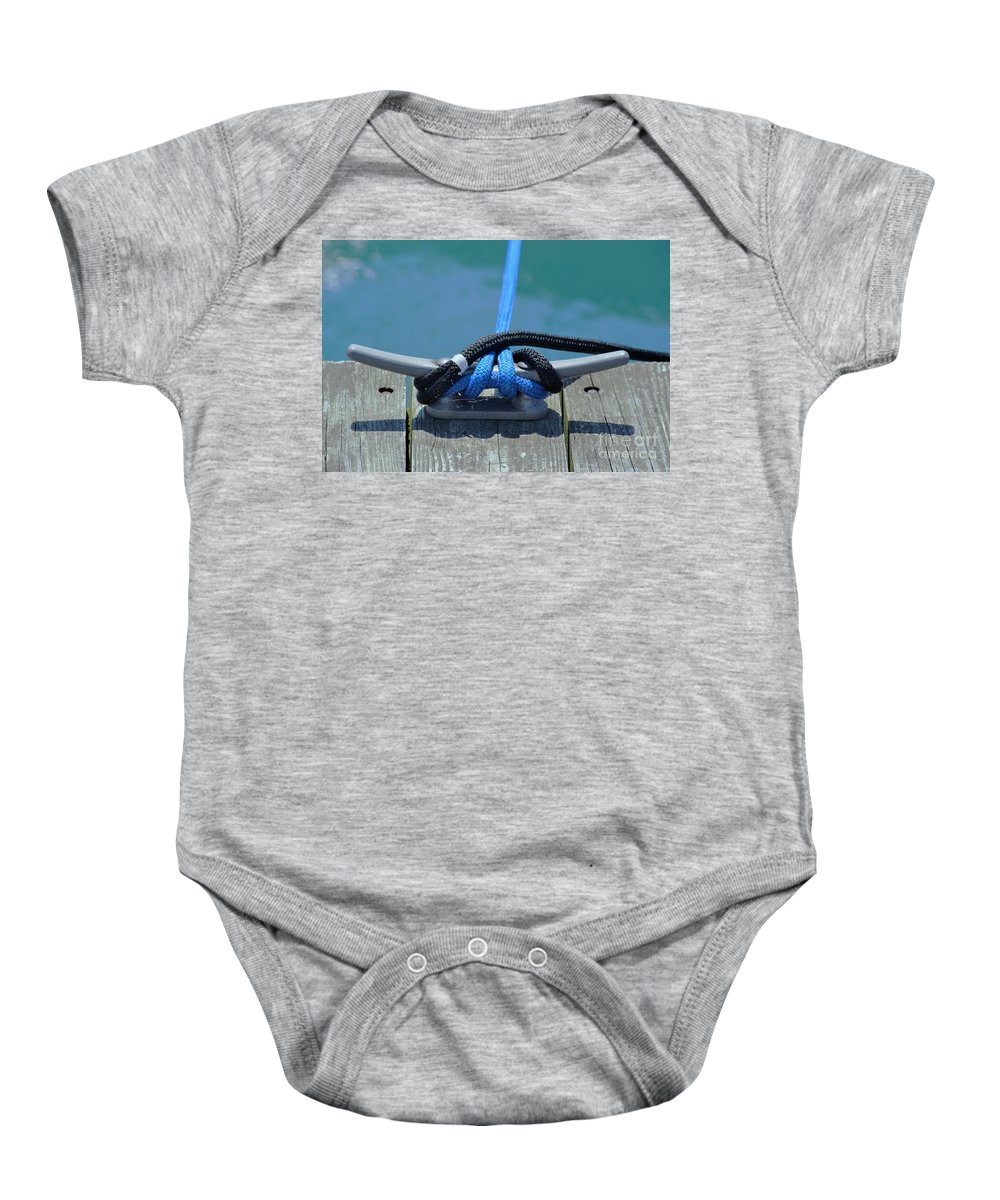 Boating Baby Onesie featuring the photograph Secure In Port by Merle Grenz