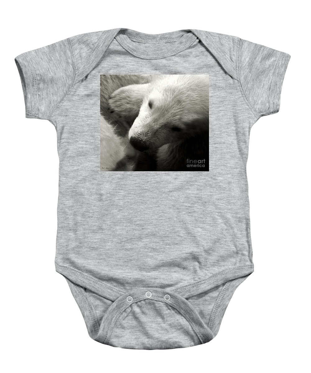 Polar Bear Baby Onesie featuring the photograph Security Blanket by RC DeWinter