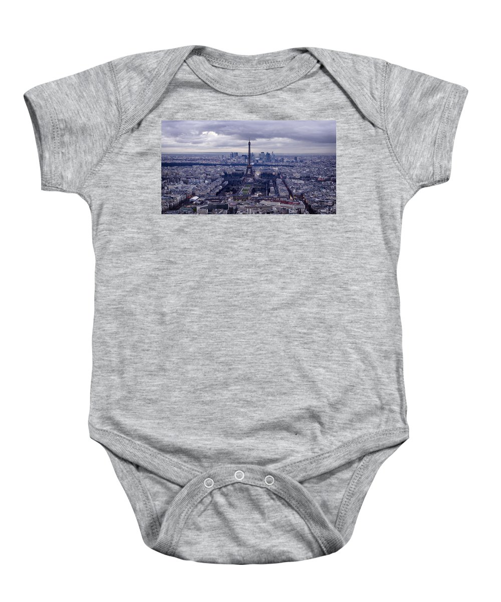 Paris Baby Onesie featuring the photograph See Paris As Birds Do by Pablo Lopez