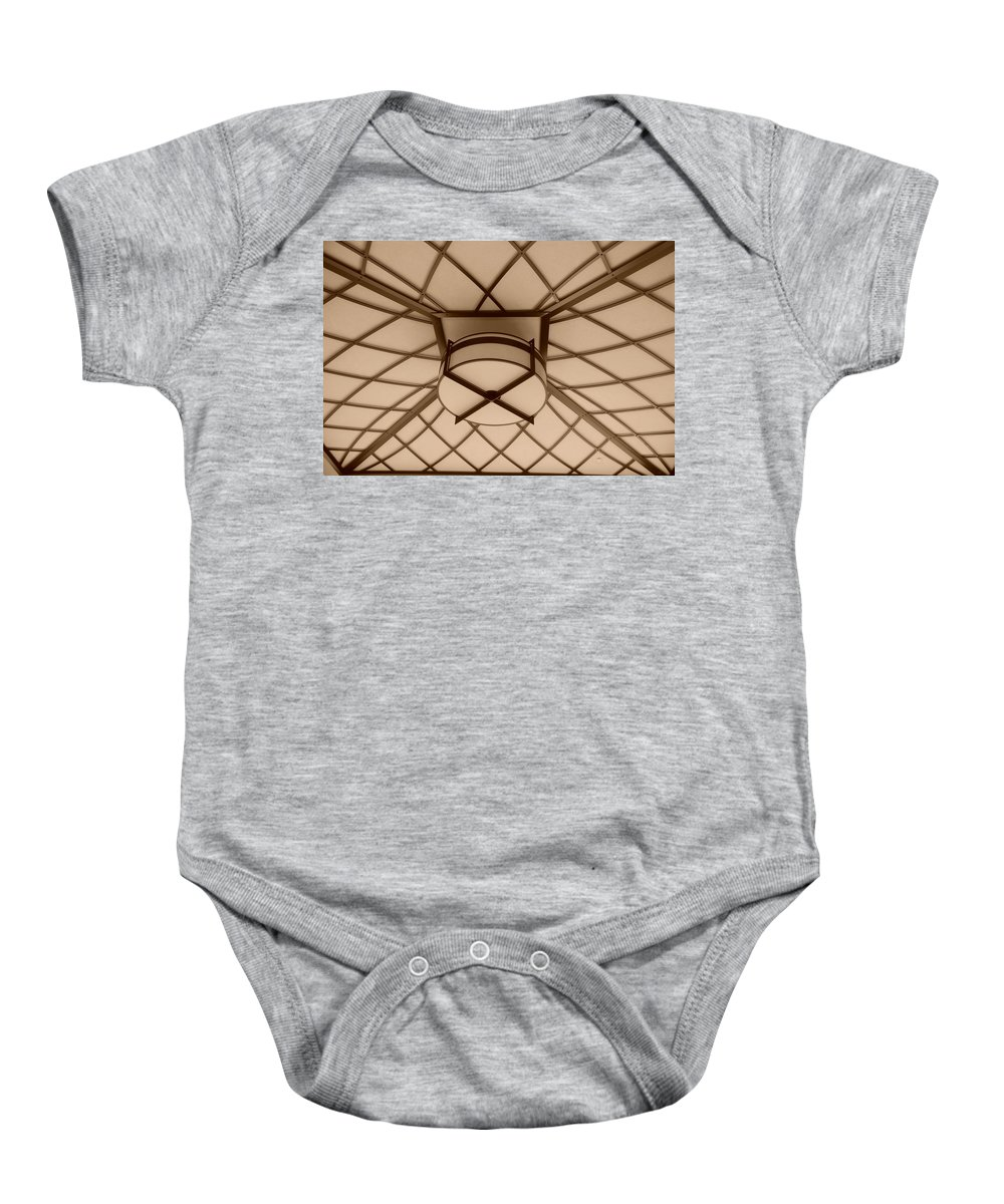 Sepia Baby Onesie featuring the photograph Sepia Lighted Box by Rob Hans