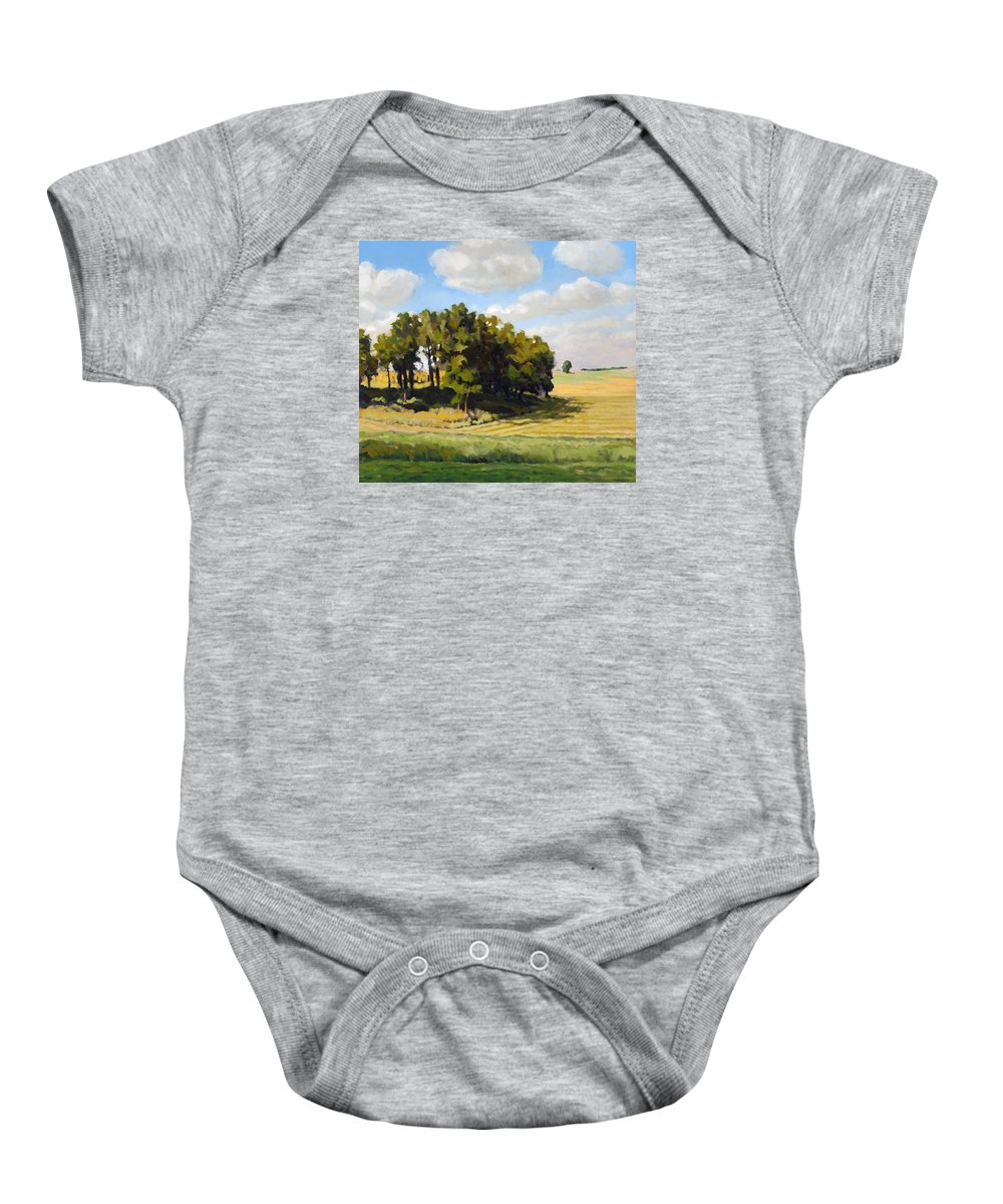 Landscape Baby Onesie featuring the painting September Summer by Bruce Morrison