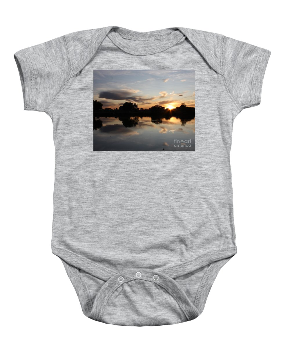 Sunset Baby Onesie featuring the photograph September Sunset In Prosser by Carol Groenen
