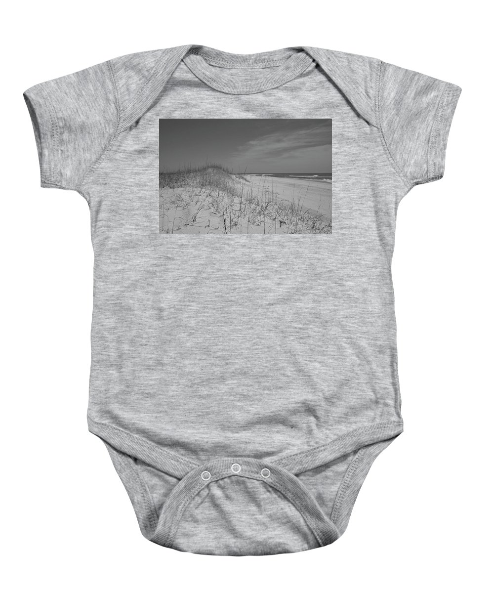 Beach Baby Onesie featuring the photograph Serene Lookout by Betsy Knapp