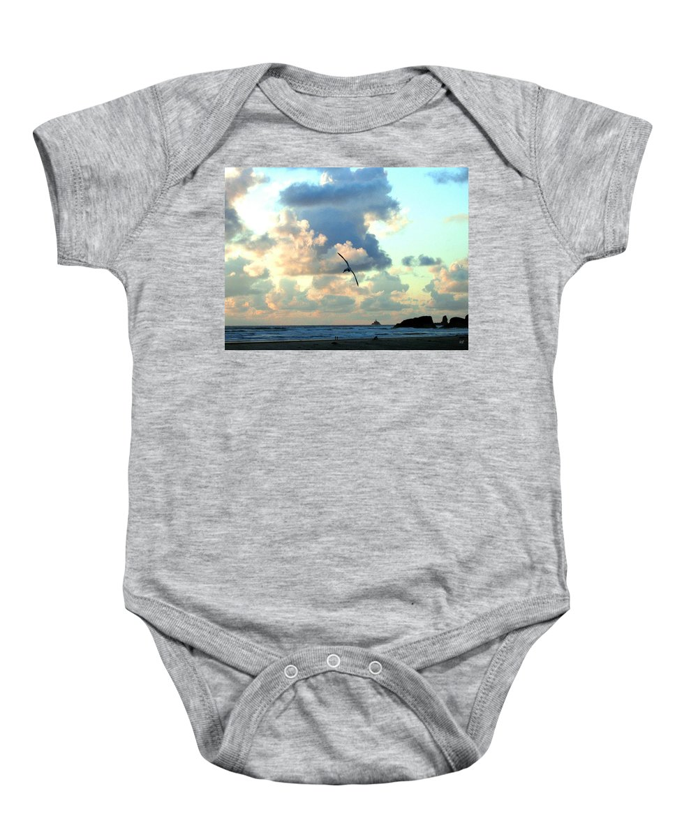 Sunset Baby Onesie featuring the photograph Serene Sunset by Will Borden