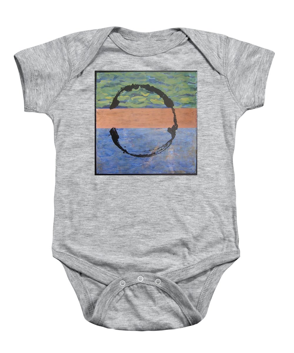 Serenity Baby Onesie featuring the painting Serenity by Ellen Beauregard