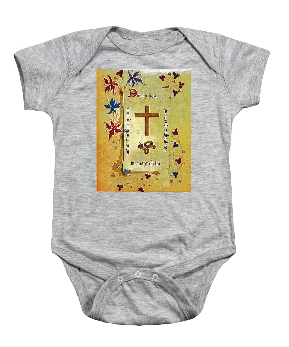 Religion Baby Onesie featuring the photograph Sermon4 by Donna Bentley