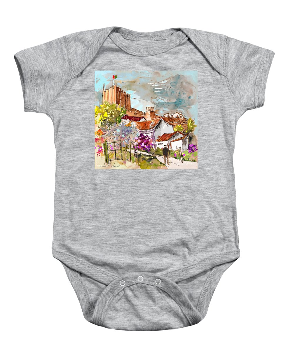 Water Colour Painting Serpa Portugal Baby Onesie featuring the painting Serpa Portugal 26 by Miki De Goodaboom