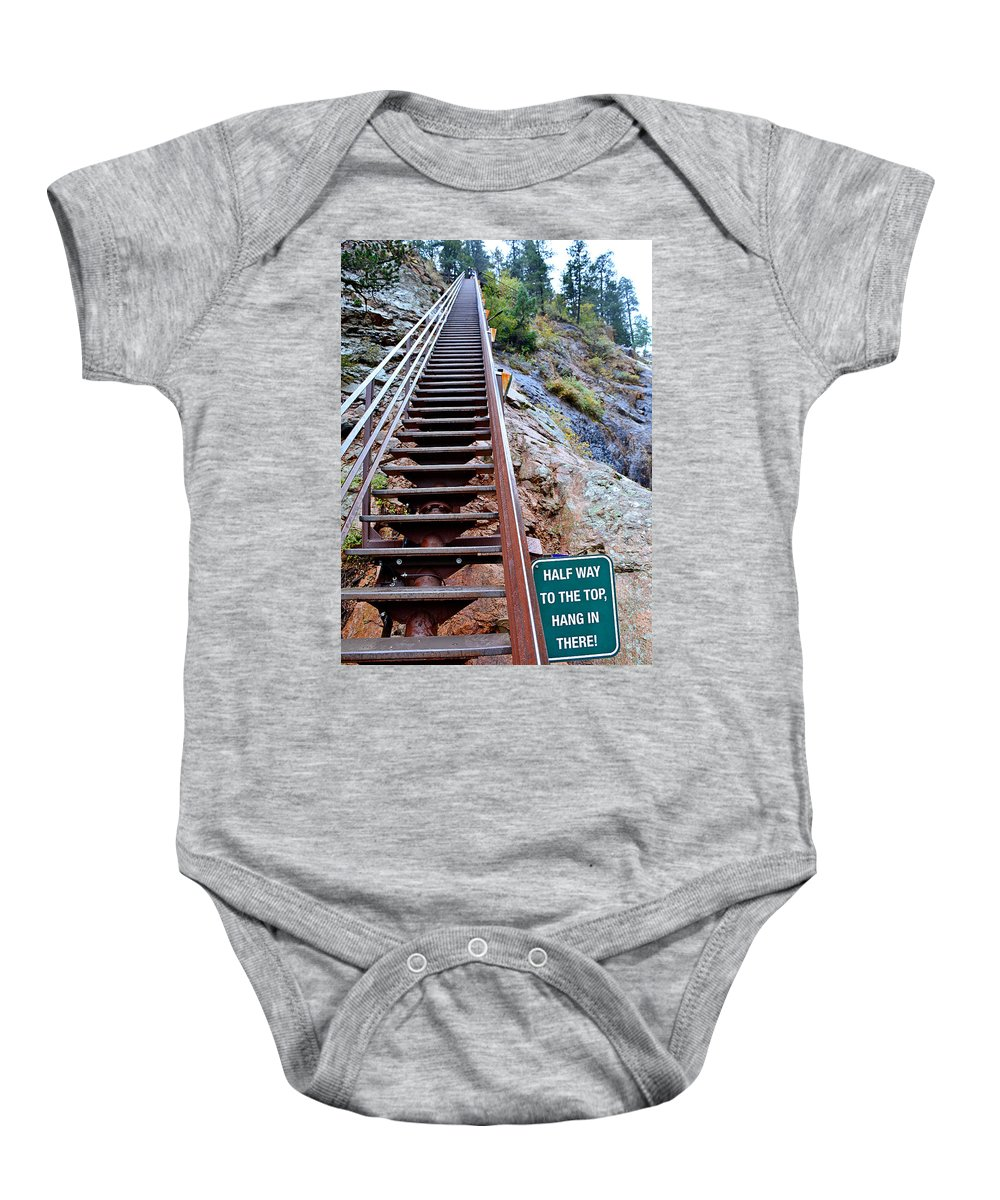 Seven Falls Baby Onesie featuring the photograph Seven Falls Pastoral Study 2 by Robert Meyers-Lussier