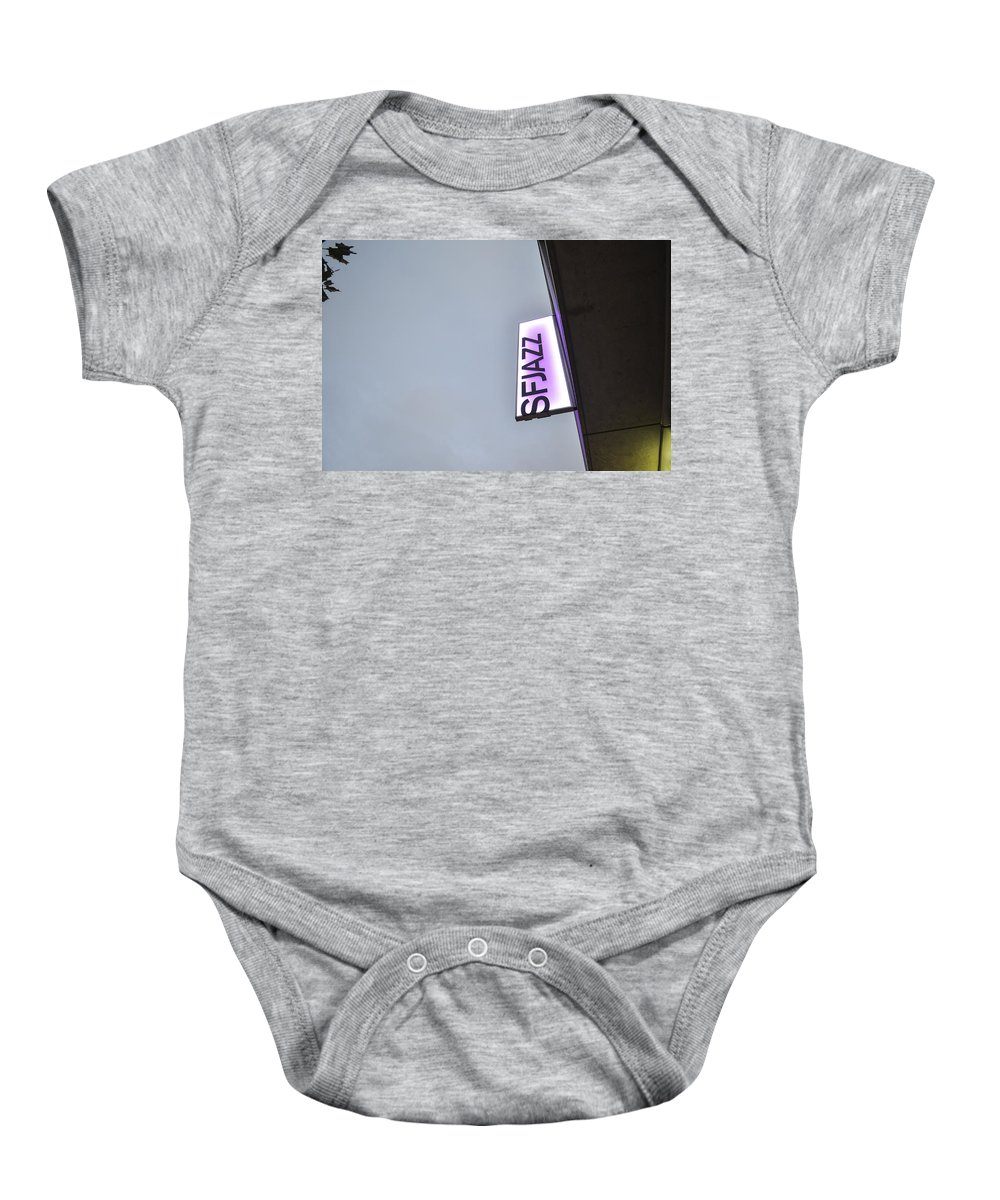 Sfjazz Baby Onesie featuring the photograph Sfjazz San Francisco by Erik Burg