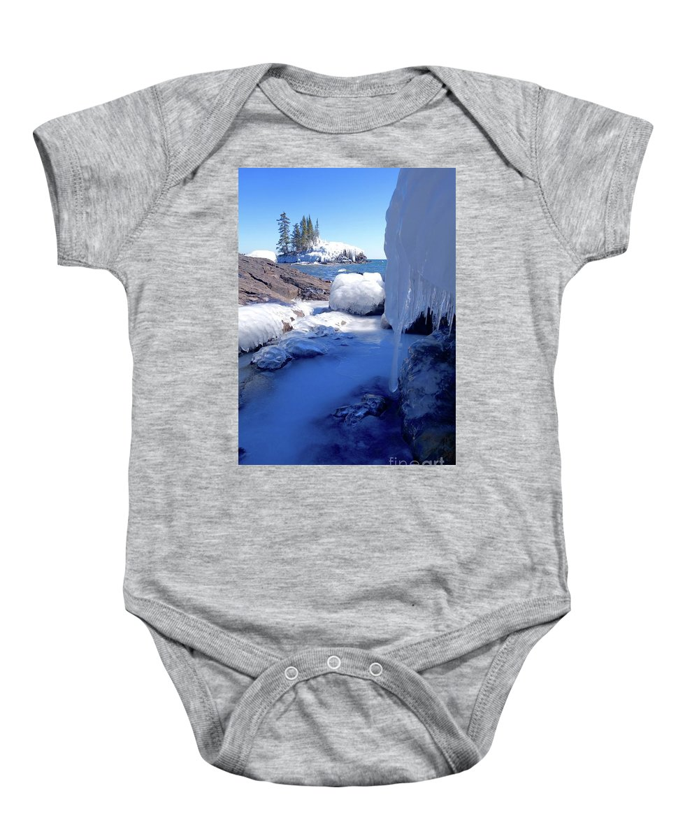 Shade Baby Onesie featuring the photograph Shade Into Sunshine by Sandra Updyke
