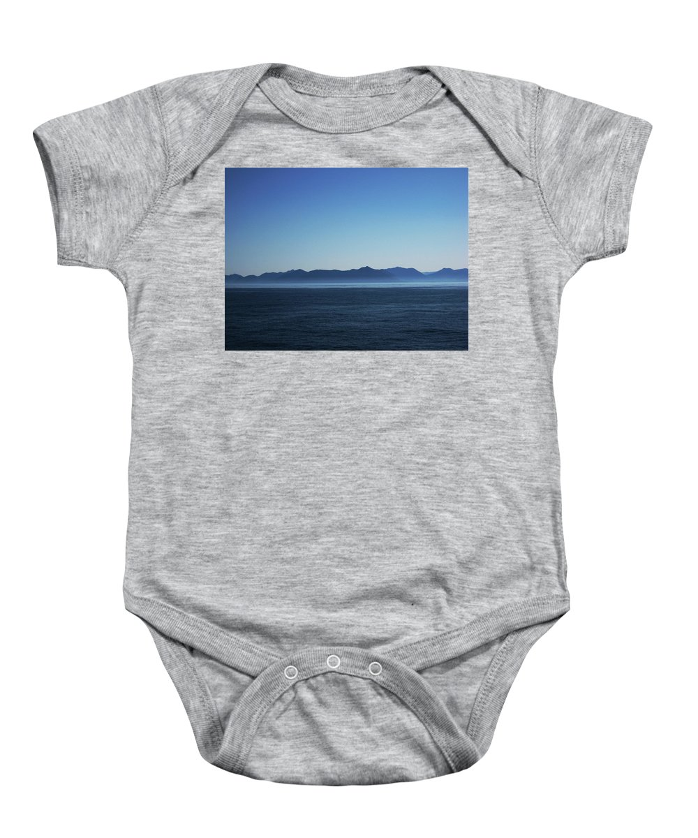 Waterscape Baby Onesie featuring the photograph Shades Of Blue by Lori Tambakis