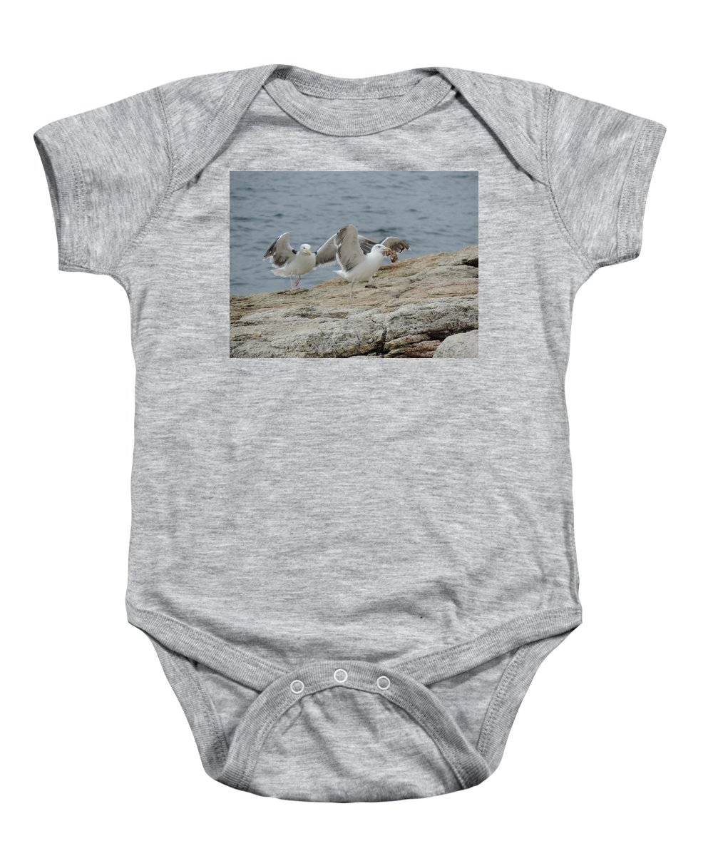 Sharing Is Caring Baby Onesie featuring the photograph Sharing Is Caring by Bill Tomsa