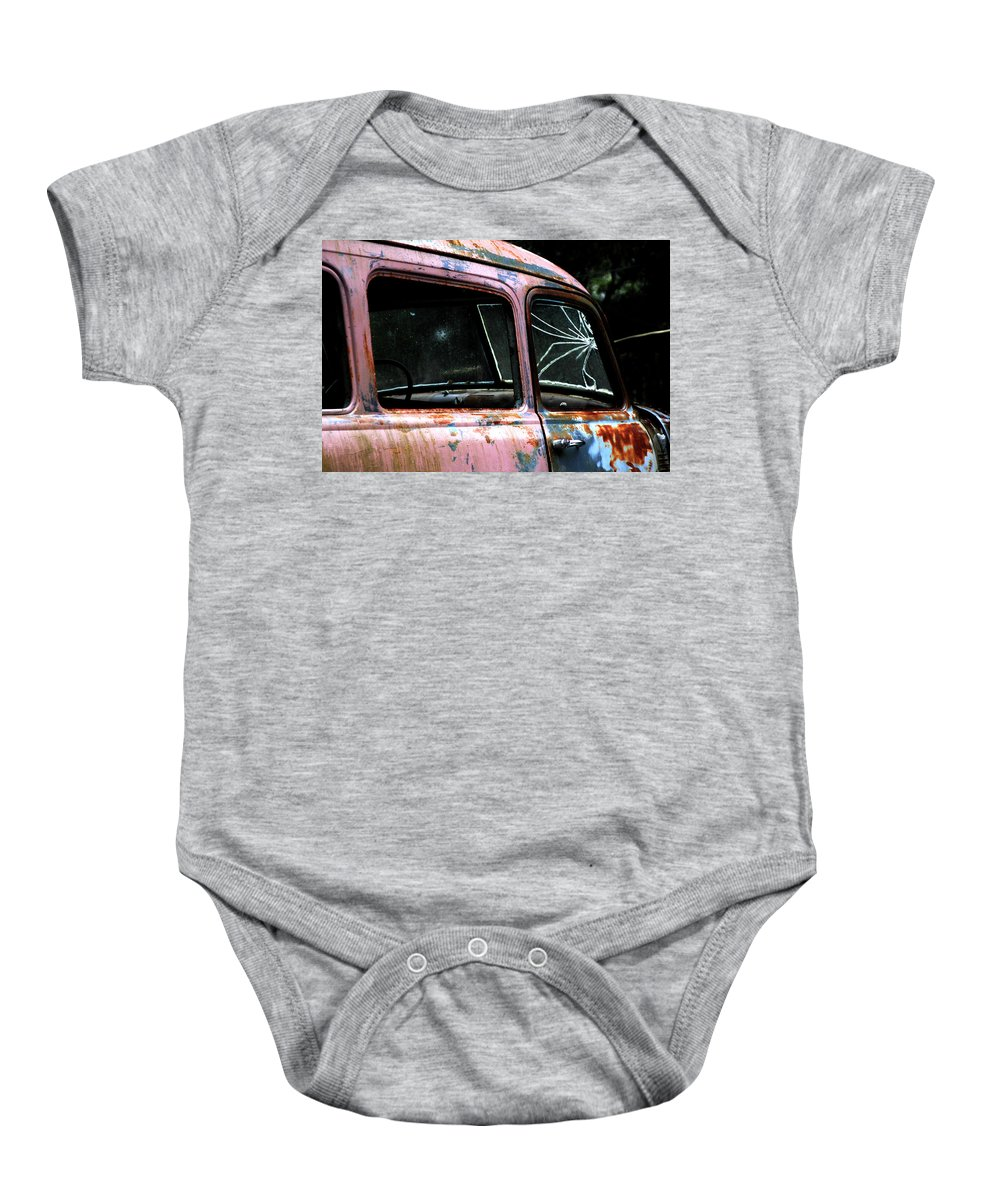 Antique Baby Onesie featuring the photograph Shattered by Pauline Darrow
