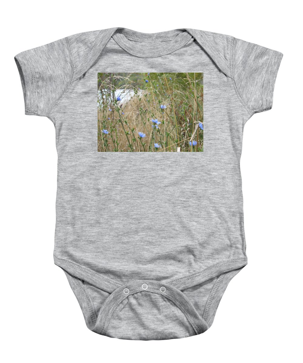 Flower Baby Onesie featuring the photograph Shore Flowers by Kelly Mezzapelle
