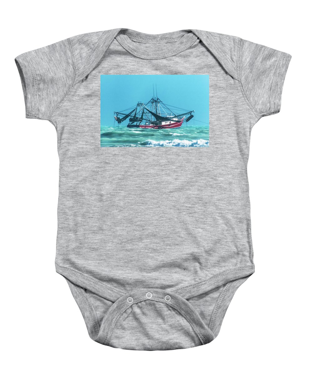 Shrimping Baby Onesie featuring the photograph Shrimping On A Windy Day In Key West by Bob Slitzan