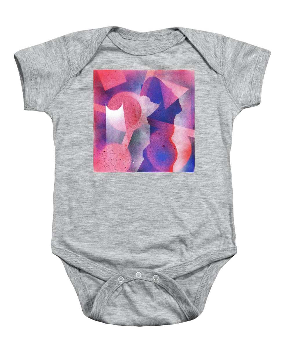 Spray Baby Onesie featuring the painting Silent Contemplation 2 by Hakon Soreide