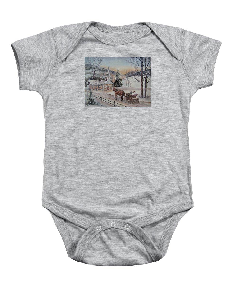 Charles Roy Smith Baby Onesie featuring the painting Silent Night by Charles Roy Smith