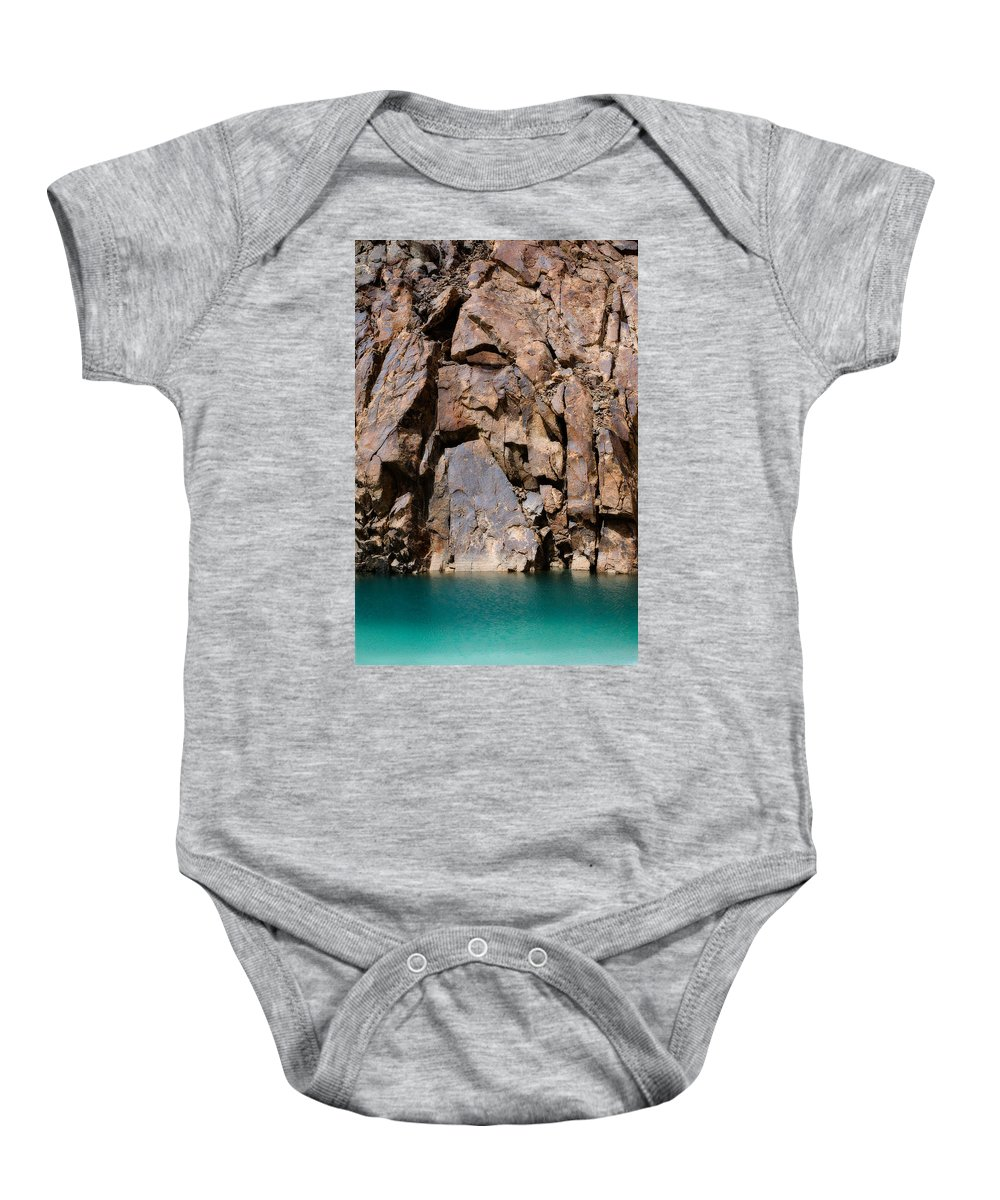 Abstract Baby Onesie featuring the photograph Silent Rocks by Konstantin Dikovsky
