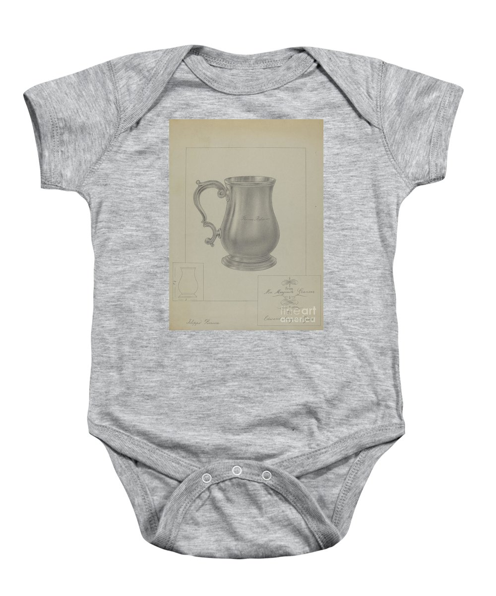 Baby Onesie featuring the drawing Silver Mug by Filippo Porreca