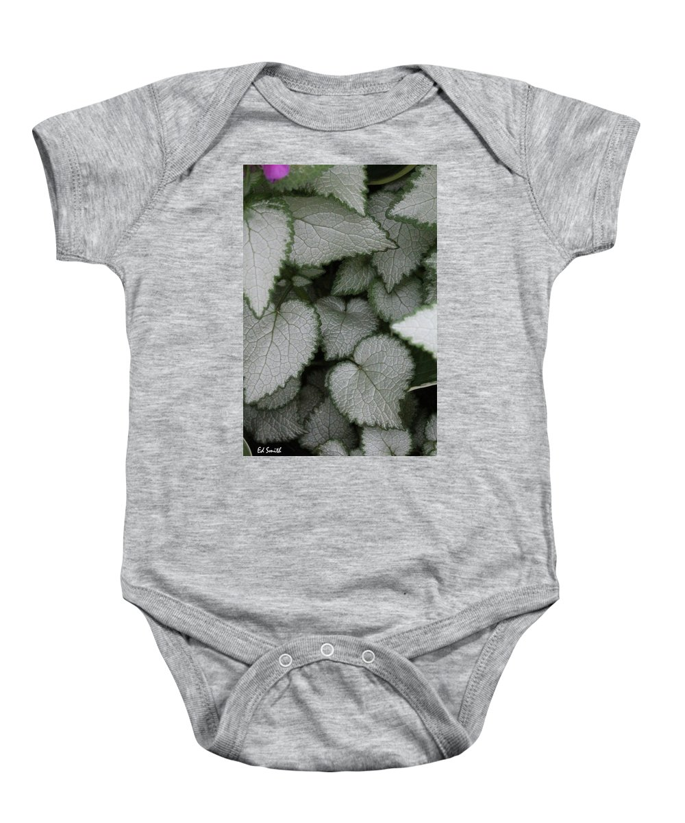Silver Sensations Baby Onesie featuring the photograph Silver Sensations by Ed Smith