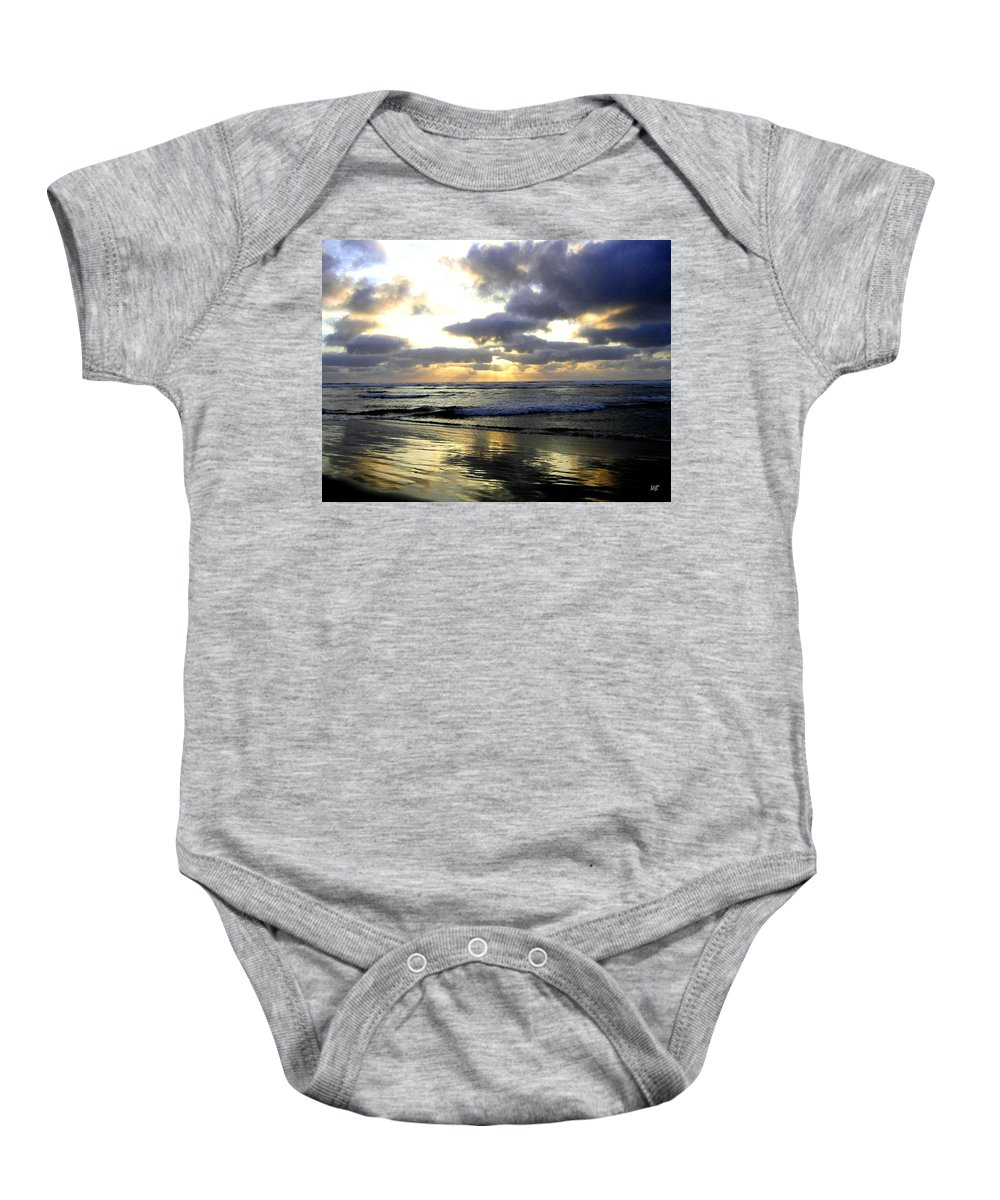 Sunset Baby Onesie featuring the photograph Silver Shores by Will Borden