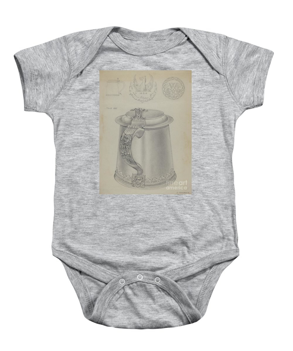 Baby Onesie featuring the drawing Silver Tankard by Gordon Sanborn