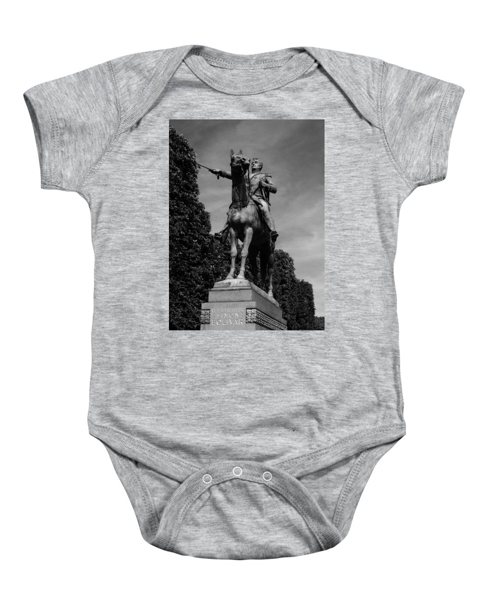Simon Baby Onesie featuring the photograph Simon Bolivar by Juergen Weiss