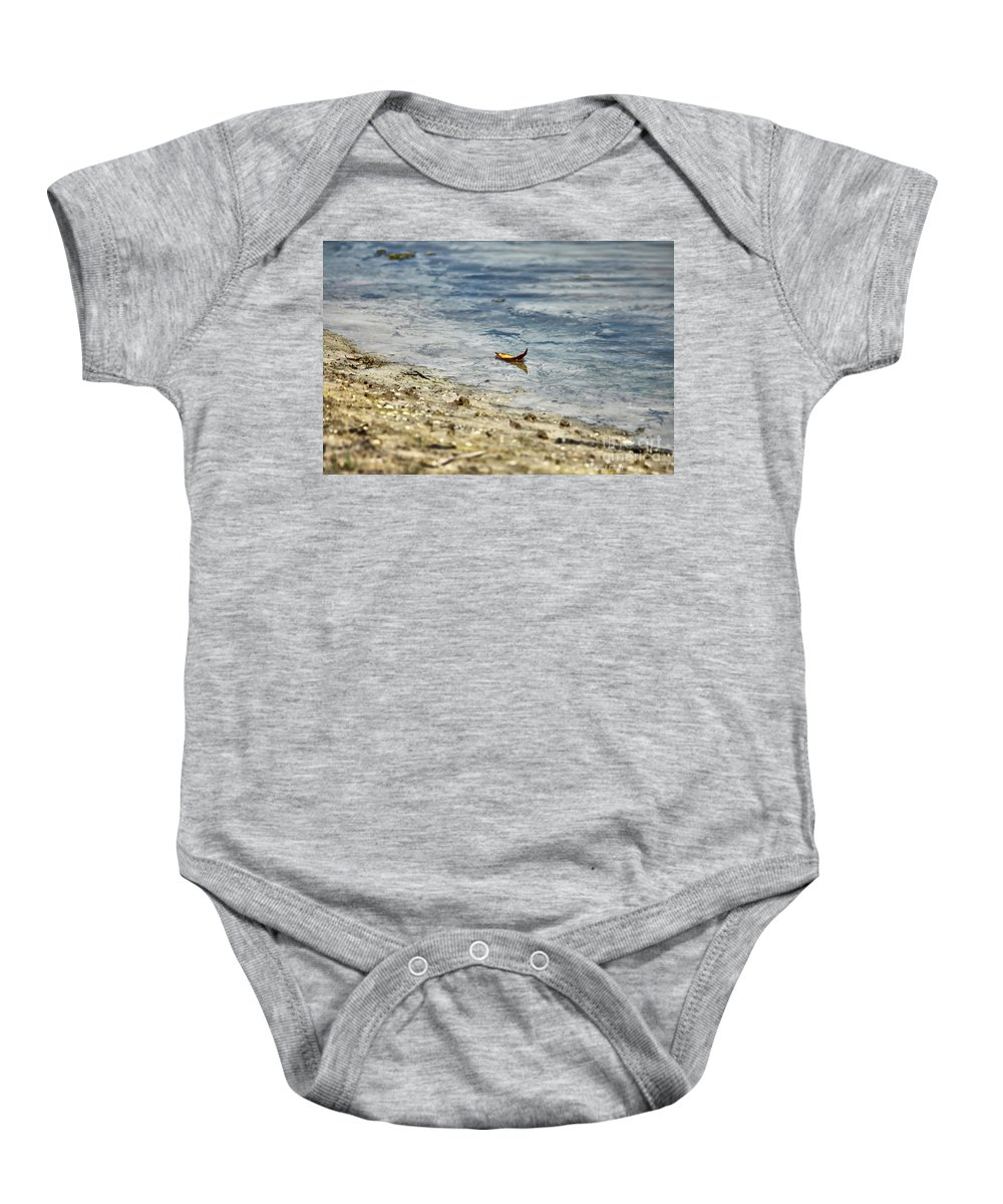 Leaf Baby Onesie featuring the photograph Simplicity by Deborah Benoit