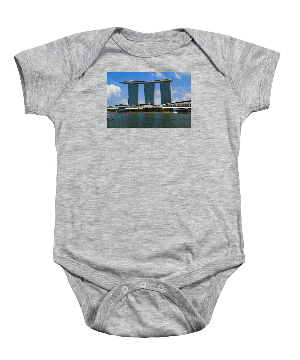 Baby Onesie featuring the photograph Singapore Ship Top by Shane Phillips