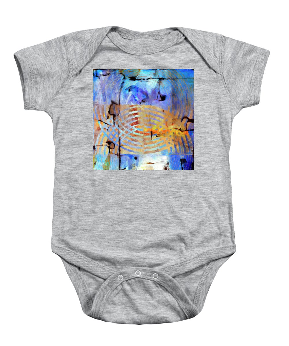 Abstract Baby Onesie featuring the painting Singularity by Dominic Piperata