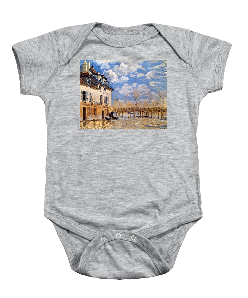 1876 Baby Onesie featuring the photograph Sisley: Flood, 1876 by Granger