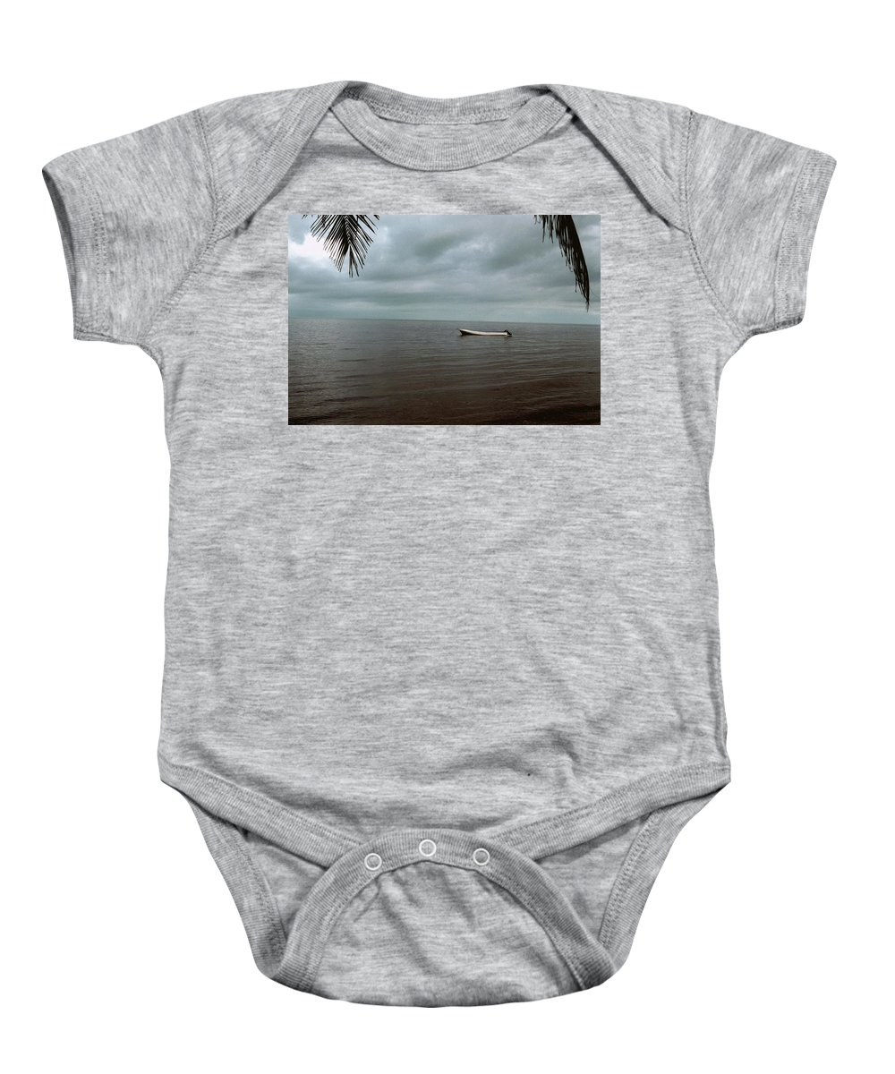 Belize Baby Onesie featuring the photograph Sittin' In The Bay by Gary Wonning