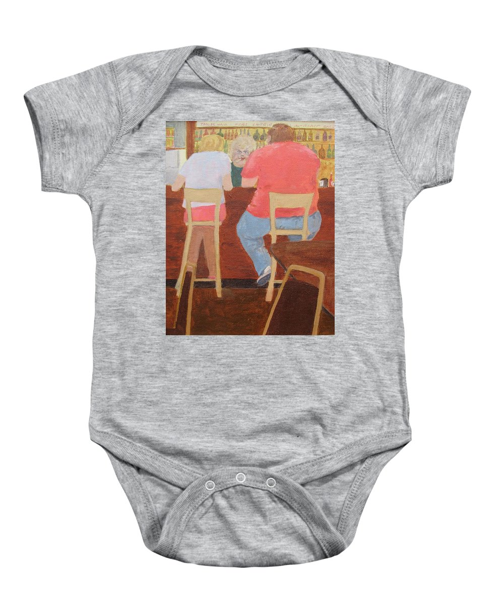 Rutt's Hut Baby Onesie featuring the painting Six Rippers by William Riley