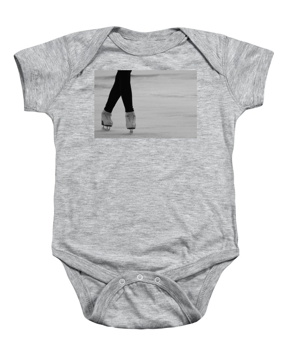 Ice Skate Baby Onesie featuring the photograph Skating by Lauri Novak