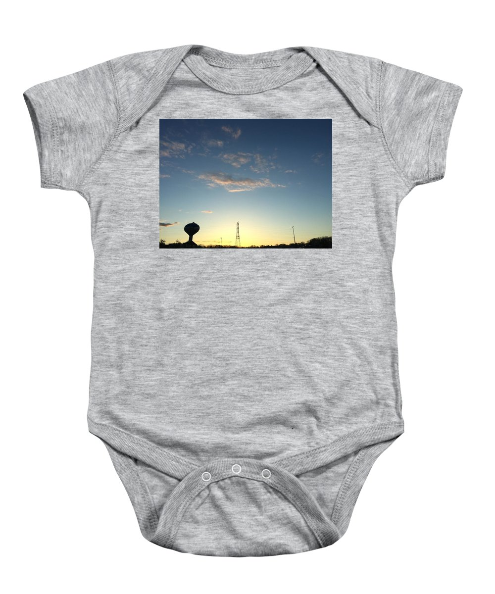 Baby Onesie featuring the photograph sky by Robert Epps