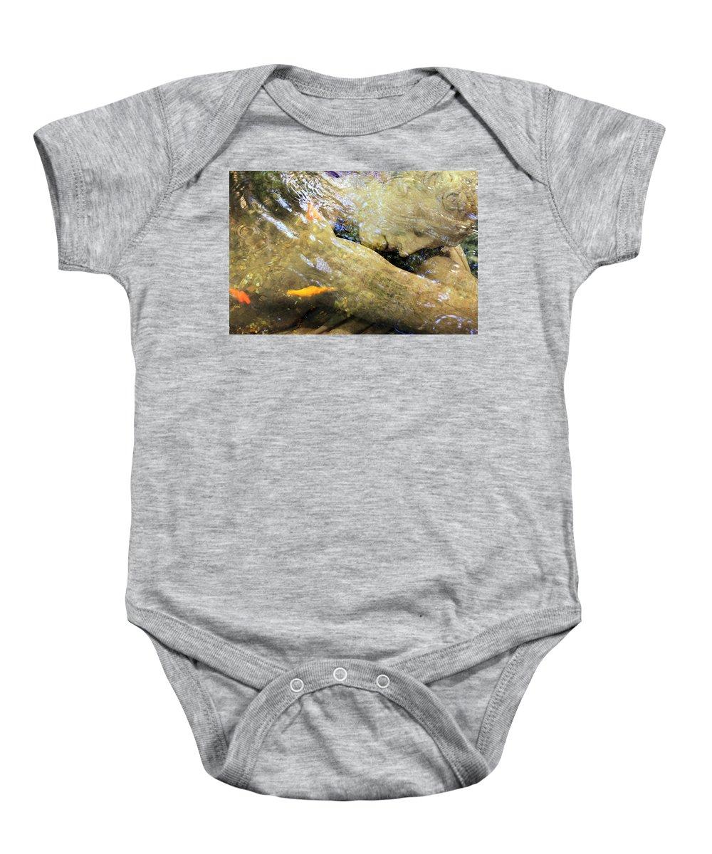 Digital Baby Onesie featuring the photograph Sleeping Under The Water by Munir Alawi