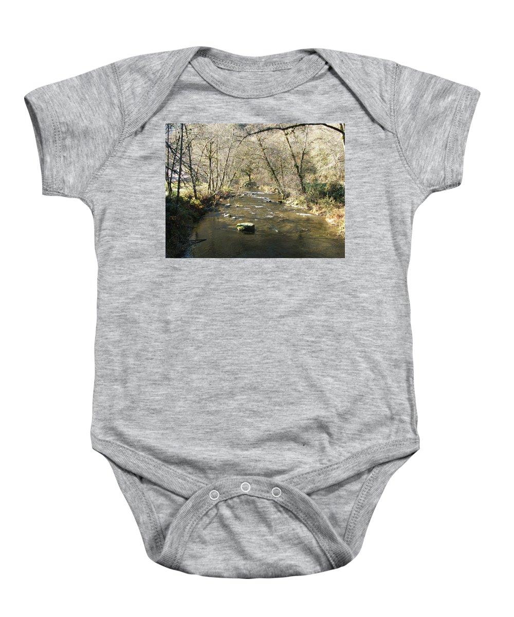 River Baby Onesie featuring the photograph Sleepy Creek by Shari Chavira