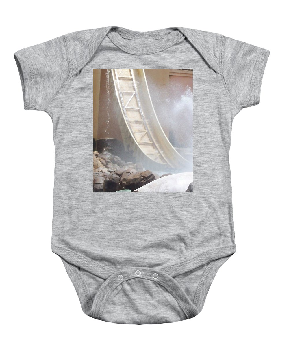 Slide Baby Onesie featuring the photograph Slide Splash by Pharris Art