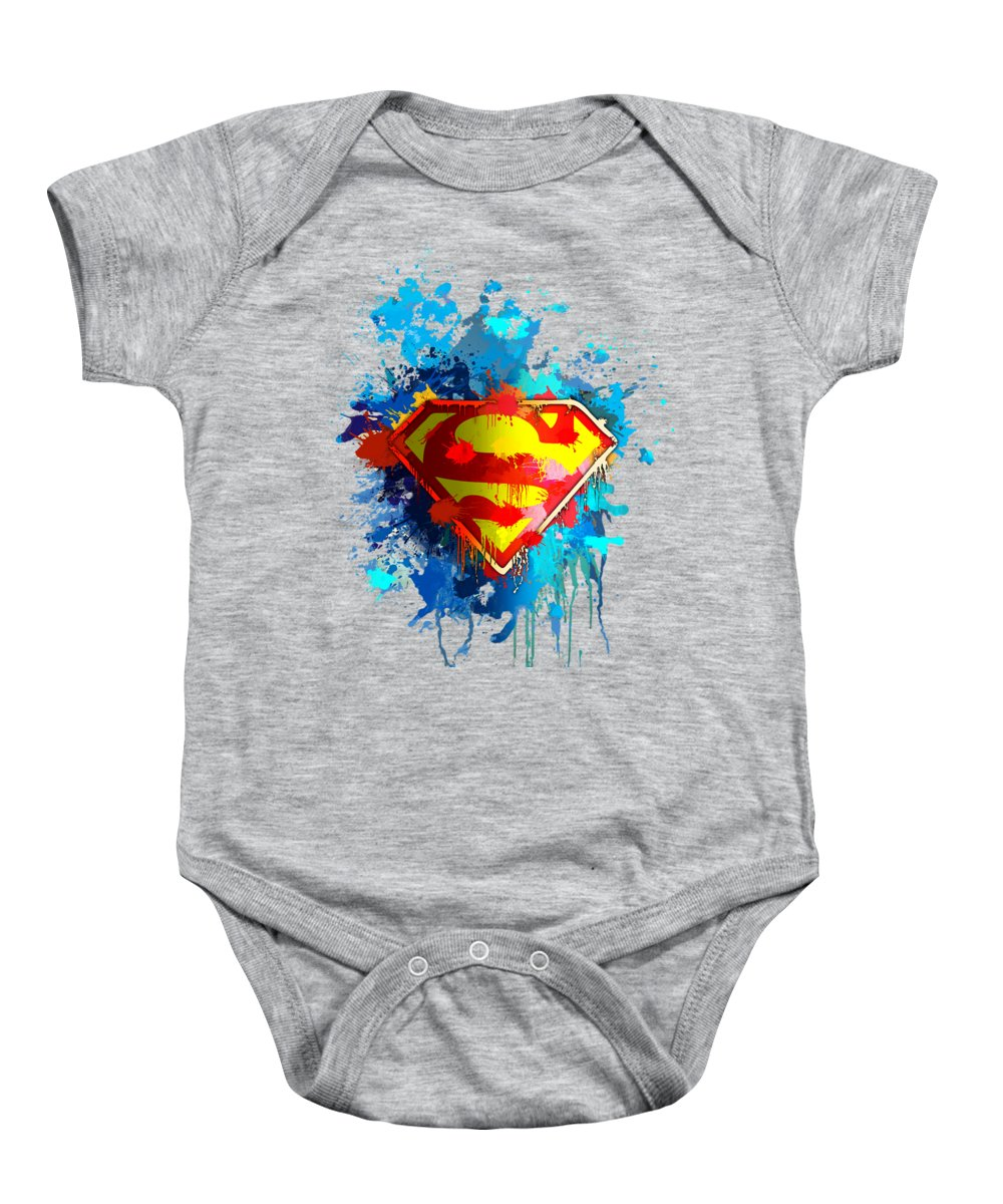Strength Baby Onesie featuring the digital art Smallville by Anthony Mwangi