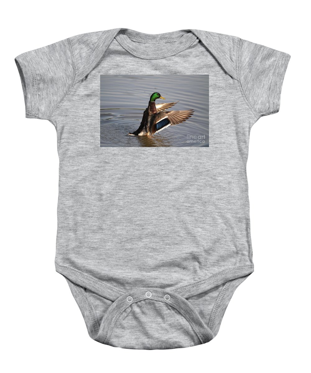 Ducks Baby Onesie featuring the photograph Smile by Robert Pearson