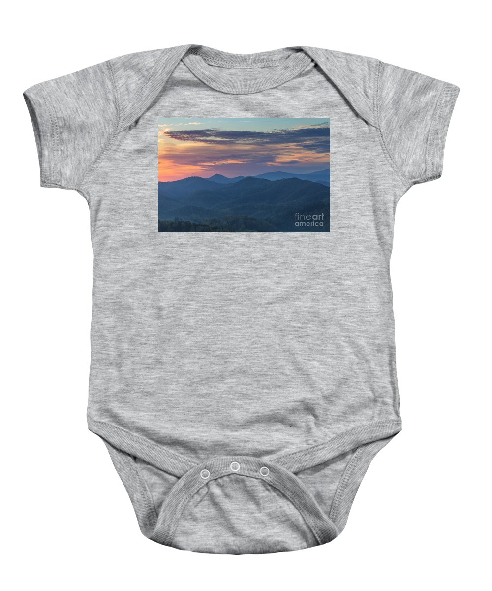 Foothills Parkway Baby Onesie featuring the photograph Smokies Sunrise by Richard Sandford