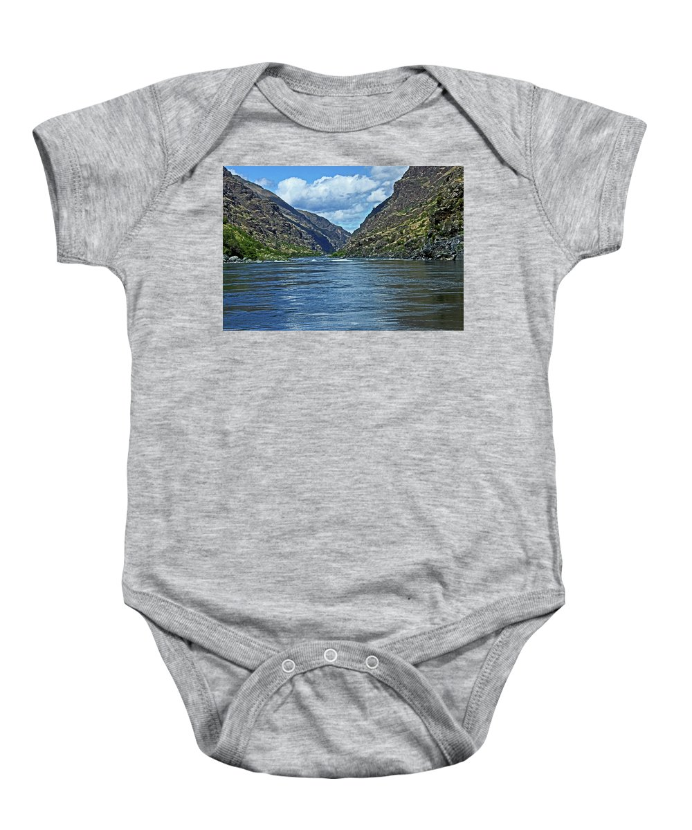 Landscape Baby Onesie featuring the photograph Snake River Hells Canyon by Ira Marcus